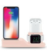 3-in-1 Device Stand Desktop Charging Station For iPhone Apple Watch Air ... - £10.65 GBP