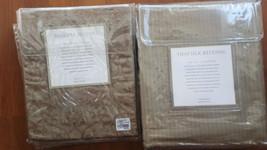 "NWOT  Restoration Hardware Queen ""Tonal Stripe Silk"" Flax Duvet & Shams Set - $345.51"