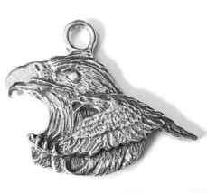 Eagle Fine Pewter Cast Charm Pendant  ~ 1 1/4 Inches Tall     (T217) image 2