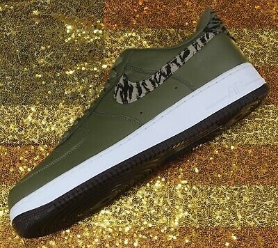 Nike Air Force 1 One Low AOP Basketball Shoes Olive-Green/White [AQ4131-200]- 13 image 2