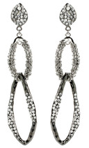 Amrita Singh Gunmetal Crystal Amarya Chandelier Dangle Earrings ERC 6007 NWT - $24.26