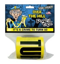 Over the Hill Party Tape - IT'S A CRIME TO TURN 50 - 100 Feet! - $11.63