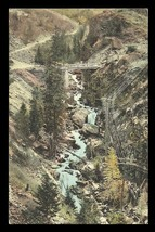 Silverton Ouray CO Postcard State Bridge Toll Road Albertype CO PC - $19.99