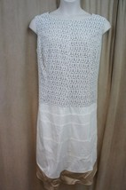 Anne Klein Dress Sz 22W Chalk White Sleeveless A Line Business Dinner Wo... - $69.26