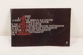 Vintage Minolta Camera Lens Catalog mjb - $14.84