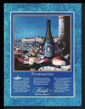 Principessa Gavi Wine 1986 Romantic Italian Canal Dining Art AD - $14.99