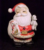 32100a homco santa coin bank teddy bear piggy money christmas figurine home interiors thumb200