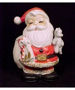 Homco Santa Coin Bank Teddy Bear Piggy Money Christmas Figurine Home Int... - $11.95