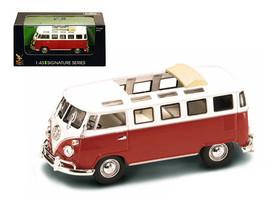 1962 Volkswagen Microbus Van Bus Red With Open Roof 1/43 Diecast Car by ... - $24.11