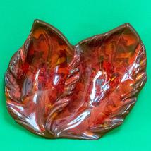 Vintage California Originals Art Pottery 2-Section Red Retro Ashtray #77 - $7.95
