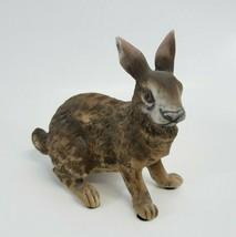 Vintage Lefton Japan Porcelain Rabbit Hare JW 6970 figurine Brown Bunny - $25.00