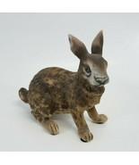 Vintage Lefton Japan Porcelain Rabbit Hare JW 6970 figurine Brown Bunny - £18.17 GBP