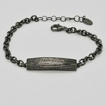 Silver Bracelet 925 Burnished Black, Man Woman by Maria Ielpo Made in Italy image 1