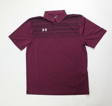 Under Armour Victor Maroon Red Polo 3-Button Men's M L XL 2XL 1293909-609 Golf - $33.60