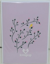 Lovepop LP1960 Goldfinch Pop Up Card Purple Slide Out Note Cellophane Wrapped image 1