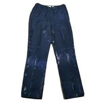 Ann Taylor Women's Dress/Career Pants ~ Sz 8 ~ Dark Blue ~ Shiny ~ Taper... - $24.74