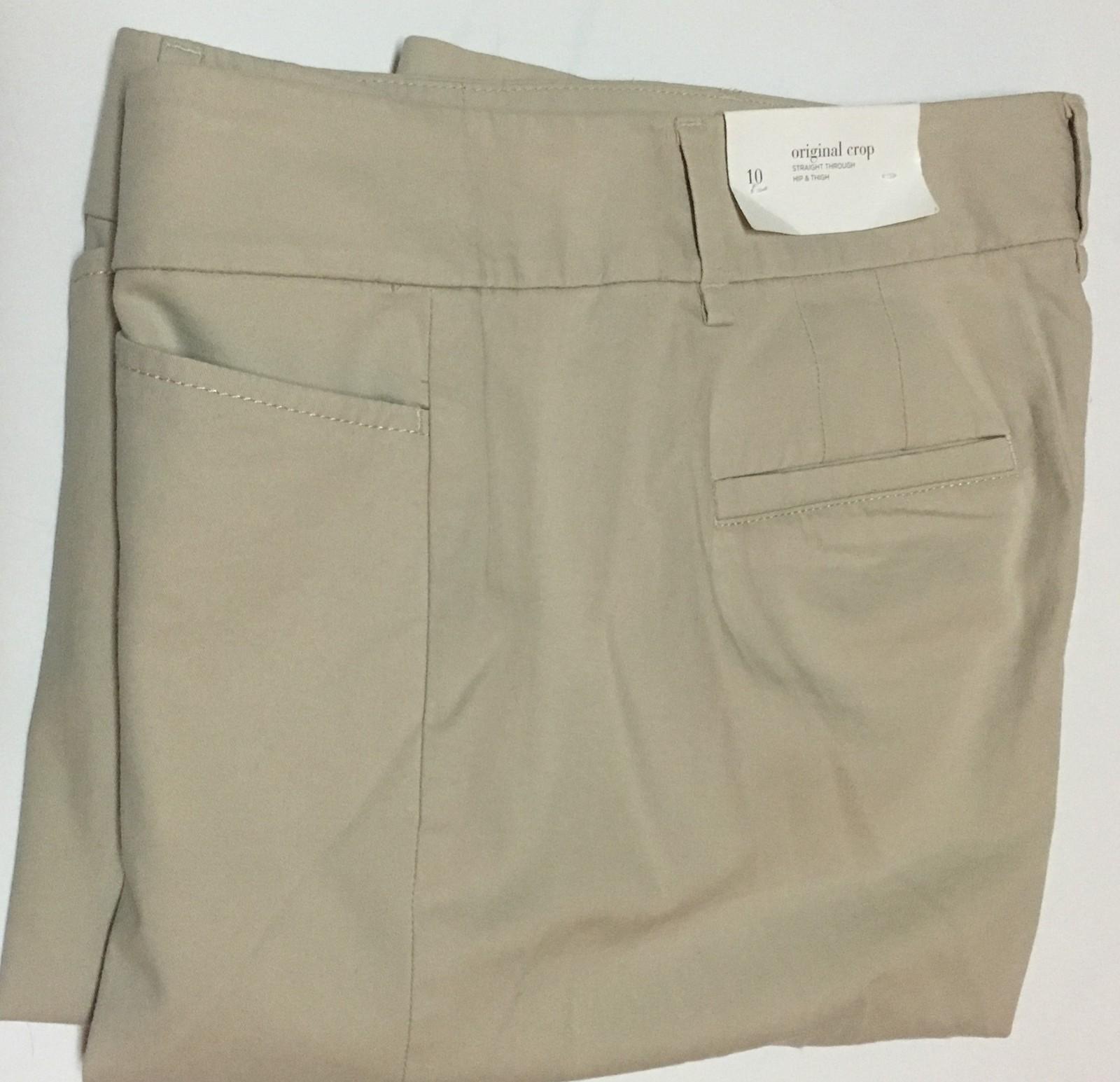 Ann Taylor Original Ankle Cropped Khakis Pants Sz 10 NWT