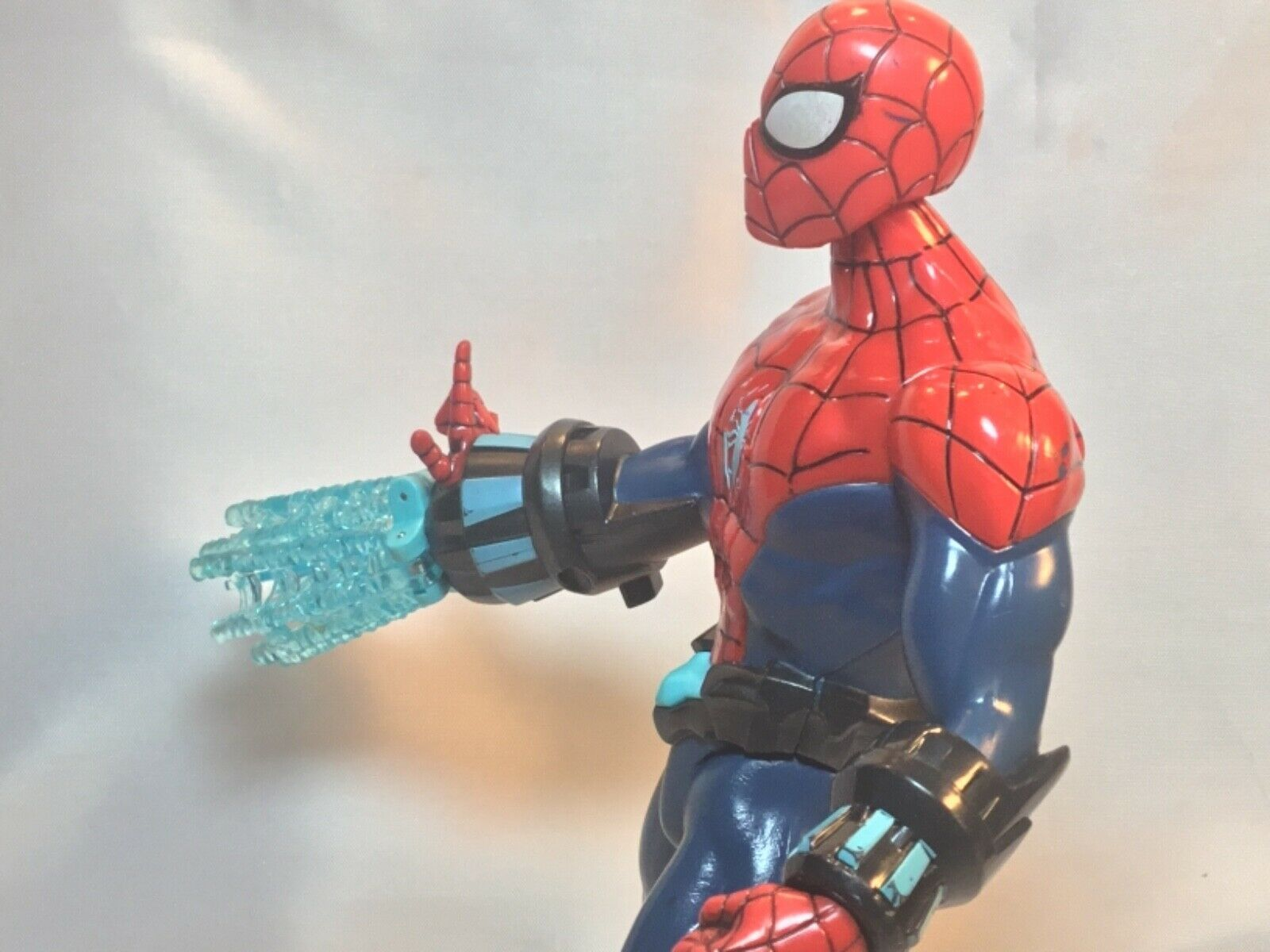"""SPIDER-MAN 10"""" Action Figure 2012 Electro Web Talks Spins A"""