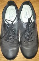 Clarks 11.5 N Black Leather Comfort Oxfords - $26.64