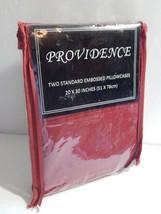 Providence Pair Standard Size Pillowcases Embossed  Burgundy - $10.00