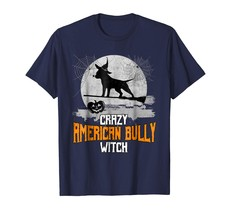 Dog Fashion - Crazy American Bully Witch Dog Halloween Costume T-Shirt Men - $19.95+