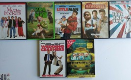 COMEDY DVD LOT 7 MEET THE FOCKERS SON OF MASK LITTLE MAN THE HANGOVER FO... - $7.91