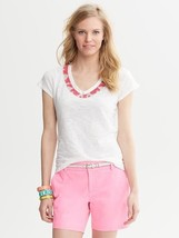Banana Republic Milly Collection Beaded Necklace Top, size M, NWT - $30.00