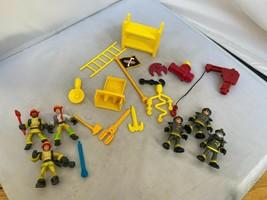 Fisher-Price Imaginext Rescue Firemen Helmet & Mask Firefighters LOT & E... - $21.99