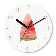 Happy Virus 1145 MDF Non-Ticking Silent Quartz Decorative Watermelon Mood Modern