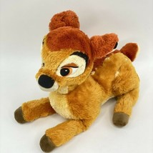 Disney Store Exclusive Bambi Plush Laying Down Deer Stuffed Animal Brown... - $19.79
