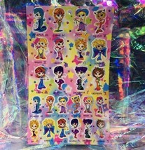 Vintage Lisa Frank Sticker Sheet Zodiac Horoscope Astrology Girls Complete