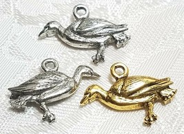 LOON BIRD FINE PEWTER PENDANT CHARM