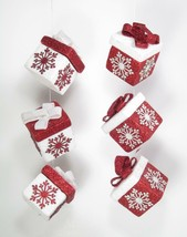 Gift Box Christmas Ornaments Set of 2 Christmas Holiday Decor - $15.79