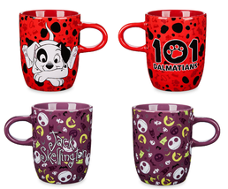 Disney Store Character Coffee Mug Jack Skellington 101 Dalmatians Patch ... - £54.45 GBP