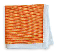 Frederick Thomas knitted pocket square handkerchief in peach FT3162