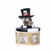Pacific Giftware Set of 4, Poker Skull Money Trinket Box - $25.73