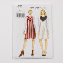 Vogue Sewing Pattern V9122 Misses Yoke Front Jumper Dress  Size 14-22 Uncut - $12.84