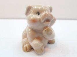 Handmade Miniatures Collectible Ceramic Pink Pi... - $3.96