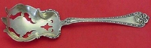 Primary image for Wellington By Alvin Sterling Silver Salad Serving Fork Fancy Pierced 7 3/8""