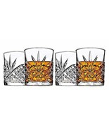 Crystal Whiskey Glass Glasses Set Classic Double Glassware Whisky Vintag... - $34.99
