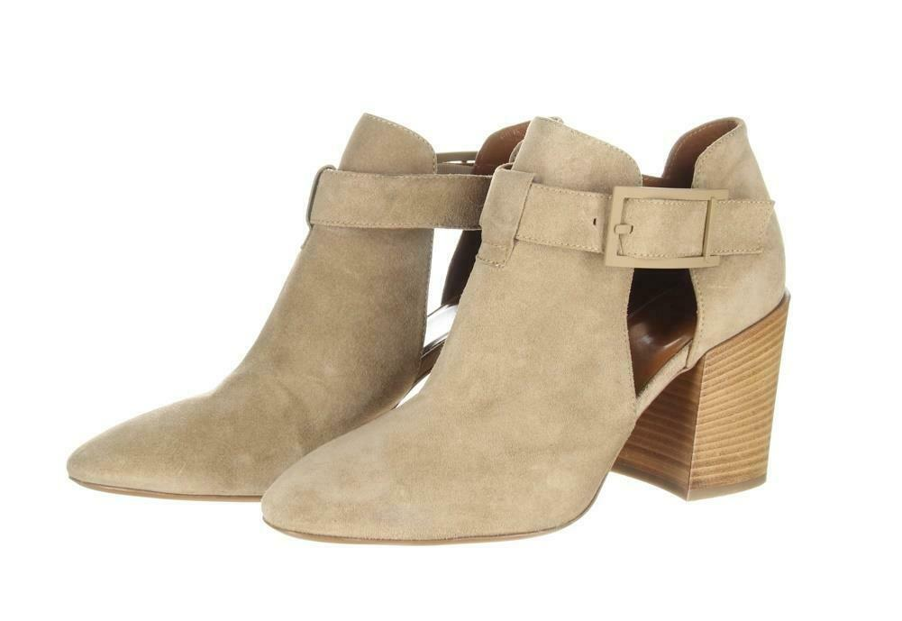 Aquatalia Women's Suede Cutout Booties Tan Ankle Boots Booties Sz. 10.5. image 3