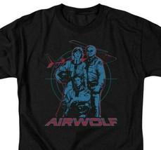 Airwolf Classic TV Series Retro 80's Jan-Michael Vincent graphic t-shirt NBC280 image 2