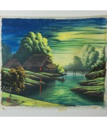 Vintage Japanese Silk Painting Hand Painted Signed Original 15.5 x 18 Un... - $59.39