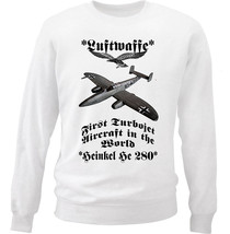 Heinkel He 280 - New White Cotton Sweatshirt - $33.91