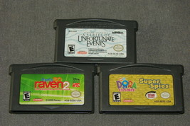 Nintendo Game Boy Advance: 3 Game Lot - That So Raven + Unfortunate Even... - $11.00