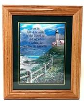 "Christian Home Decor Foil Wall Art Picture, Inspirational Framed 12"" x 10"" - $94.49"