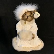 Bearington Collection Victoria Bear Plush Stuffed Animal Hat Muff Velvet... - $21.77