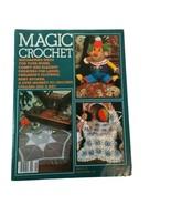 Vintage Magic Crochet Tricot #28 Pattern Magazine Clown Monkey Kids Clothes - $12.86