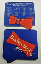 Budweiser Ice Cool Tying Your Bow Tie Vintage Paper Beer Coasters - $9.49