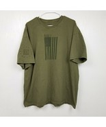 5.11 Tactical Mens T Shirt 2XL USA Flag Army Green Short Sleeve Solid Adult - $18.66